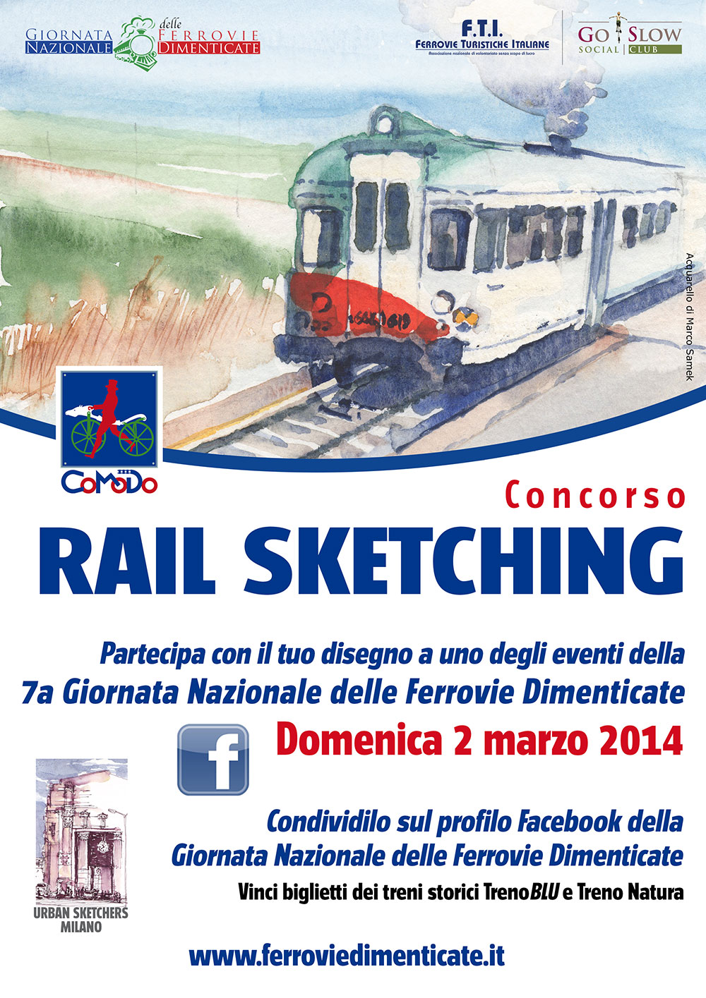 Locandina Concorso Rail Sketching Co.Mo.Do. 2014